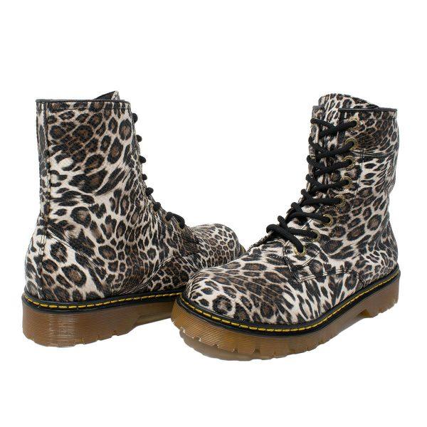 Bota Urbana Leopardo Blanco 2