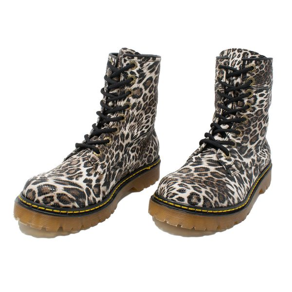 Bota Urbana Leopardo Blanco 3