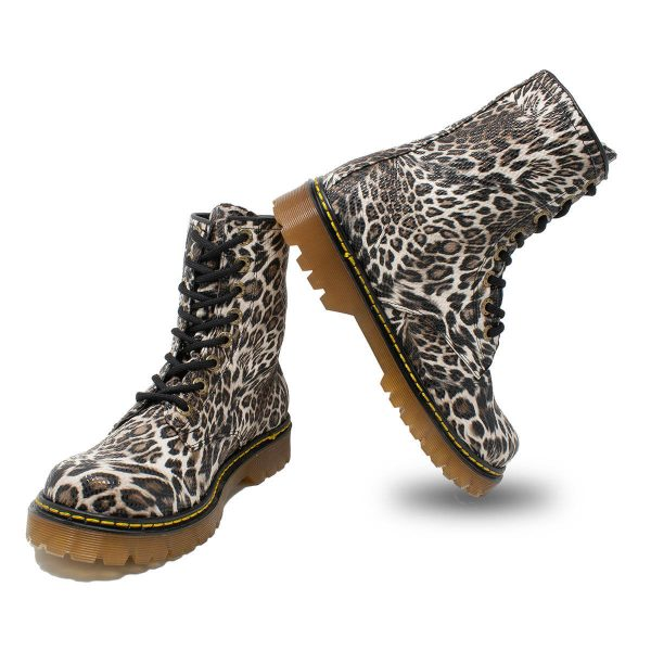 Bota Urbana Leopardo Blanco 4