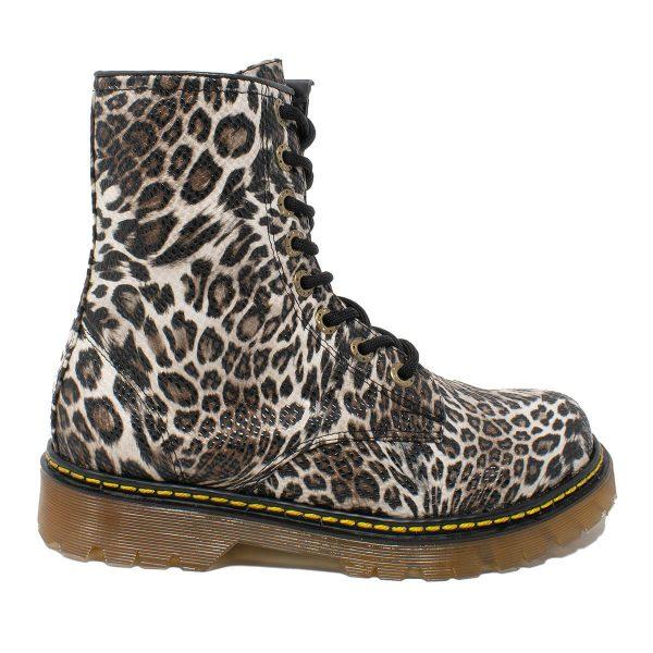 Bota Urbana Leopardo Blanco