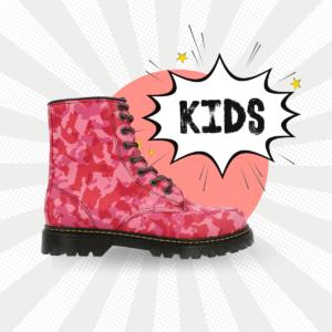 Bota Urbana Camuflaje Rosa Kids