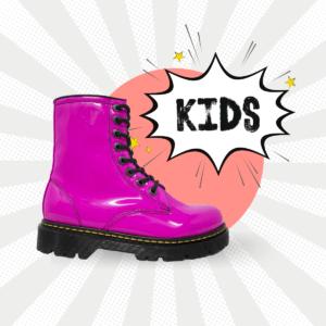Bota Urbana De Charol Rosa Kids