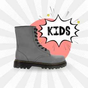 Bota Tipo Militar Reflejante Kids