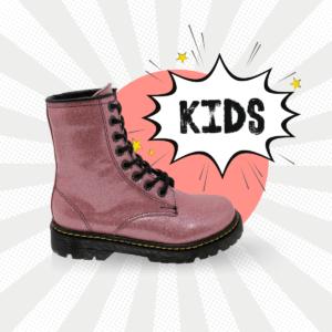 Bota Urbana Rosa Glitter Kids