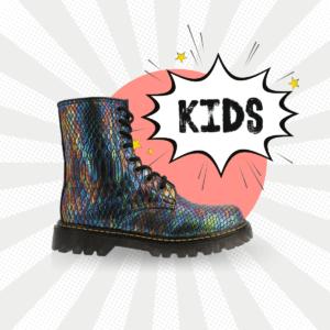 Bota Urbana Con Textura Snake Multicolor Kids