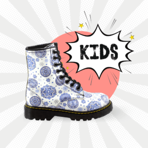 Bota Urbana Con Copos De Nieve Blanco Kids