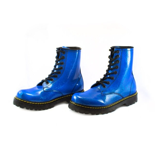 Bota Urbana Con Glitter Azul 2