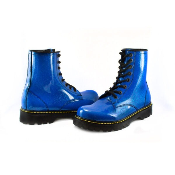 Bota Urbana Con Glitter Azul 3