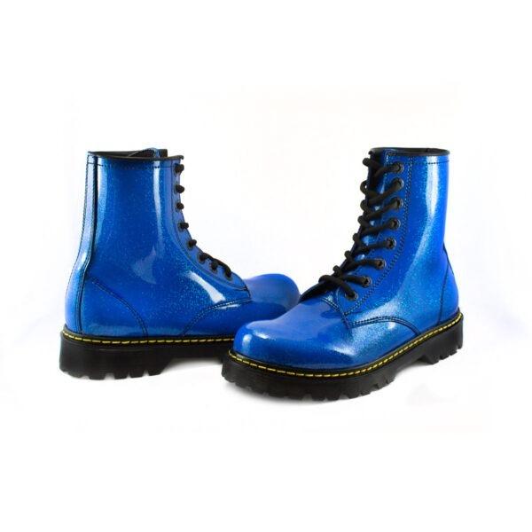Bota Urbana Con Glitter Azul Kids 3