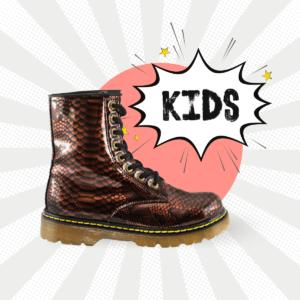 Bota Urbana Con Textura Vibora Cobre Kids
