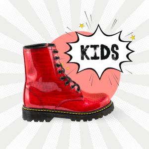 Bota Urbana De Charol Coconelle Rojo Kids